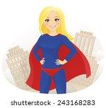 super hero woman | Shutterstock .eps vector #243168283