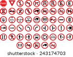 traffic signs pack set  | Shutterstock .eps vector #243174703