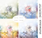 abstract picture with flowers...   Shutterstock .eps vector #243191737