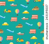 cute transportation icons for... | Shutterstock .eps vector #243195037