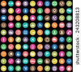 100 company icons big universal ... | Shutterstock .eps vector #243208813