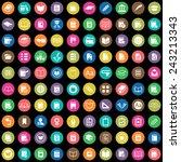 100 books icons big universal... | Shutterstock .eps vector #243213343