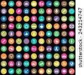 100 b2b icons big universal set  | Shutterstock .eps vector #243214747