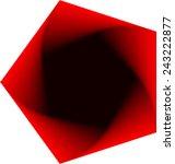 geometric object of rotation... | Shutterstock .eps vector #243222877