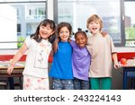 multi ethnic classroom. afro... | Shutterstock . vector #243224143