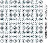 100 app icons big universal set  | Shutterstock .eps vector #243227017
