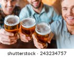 cheers to success  top view of... | Shutterstock . vector #243234757