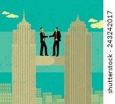 business merger two businessmen ... | Shutterstock .eps vector #243242017