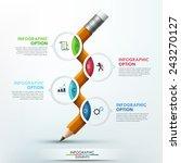 modern infographic template... | Shutterstock .eps vector #243270127