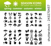 season icons | Shutterstock .eps vector #243270457