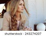 outdoor photo of beautiful...   Shutterstock . vector #243274207