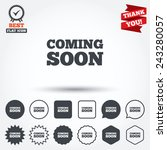coming soon sign icon....   Shutterstock .eps vector #243280057