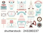 vector collection of vintage... | Shutterstock .eps vector #243280237