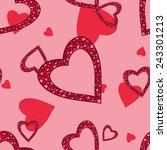 seamless heart pattern | Shutterstock .eps vector #243301213