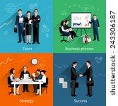teamwork design concept set... | Shutterstock .eps vector #243306187