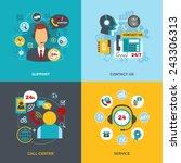 24h support telecommunication... | Shutterstock .eps vector #243306313