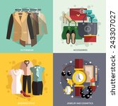 businesswoman clothes icons... | Shutterstock .eps vector #243307027