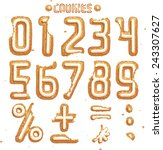 have a cookie font. digits part ... | Shutterstock .eps vector #243307627