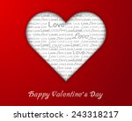 heart shape with love text on... | Shutterstock .eps vector #243318217