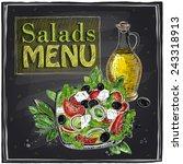salads menu chalkboard  design... | Shutterstock .eps vector #243318913