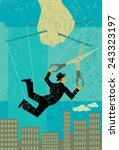 escaping a controlling boss a... | Shutterstock .eps vector #243323197