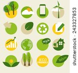 ecological icons. vector...   Shutterstock .eps vector #243327853