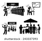 good business day stick figure... | Shutterstock .eps vector #243337393