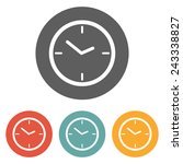 clock icon | Shutterstock .eps vector #243338827
