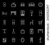 furniture line icons on black... | Shutterstock .eps vector #243352297