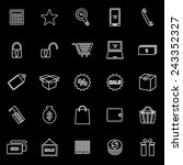 shopping line icons on black...   Shutterstock .eps vector #243352327