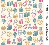 vector set of shopping icons...