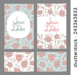 stylish save the date cards... | Shutterstock .eps vector #243365833