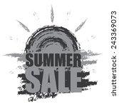 gray summer sale banner ... | Shutterstock . vector #243369073