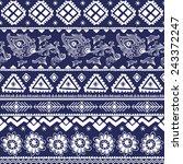tribal vintage ethnic seamless... | Shutterstock . vector #243372247