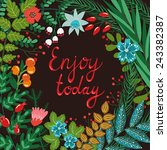 vector motivation card with...   Shutterstock .eps vector #243382387
