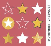 star shape success superstar... | Shutterstock .eps vector #243390787