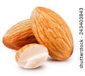 almonds nuts isolated. clipping ... | Shutterstock . vector #243403843