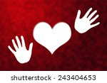 heart shape on paper craft for... | Shutterstock . vector #243404653