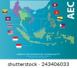 asean map dotted style... | Shutterstock .eps vector #243406033