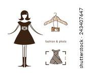 fashion photographer. stylish... | Shutterstock .eps vector #243407647