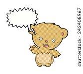 cartoon bear | Shutterstock .eps vector #243408967