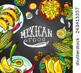 mexican food  illustration on... | Shutterstock .eps vector #243415357
