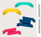 set of design elements banners... | Shutterstock .eps vector #243416767