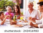 multi generation family eating... | Shutterstock . vector #243416983
