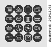 set of simple icons for shop ... | Shutterstock .eps vector #243418093
