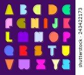 set of alphabet in capital... | Shutterstock .eps vector #243422173