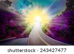 sun way heaven violet blue... | Shutterstock . vector #243427477