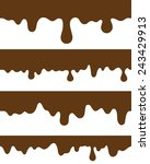 seamless strips melted chocolate | Shutterstock .eps vector #243429913