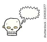 cartoon skull mask with speech... | Shutterstock .eps vector #243431377