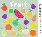colorful vector felt tip marker ...   Shutterstock .eps vector #243443827